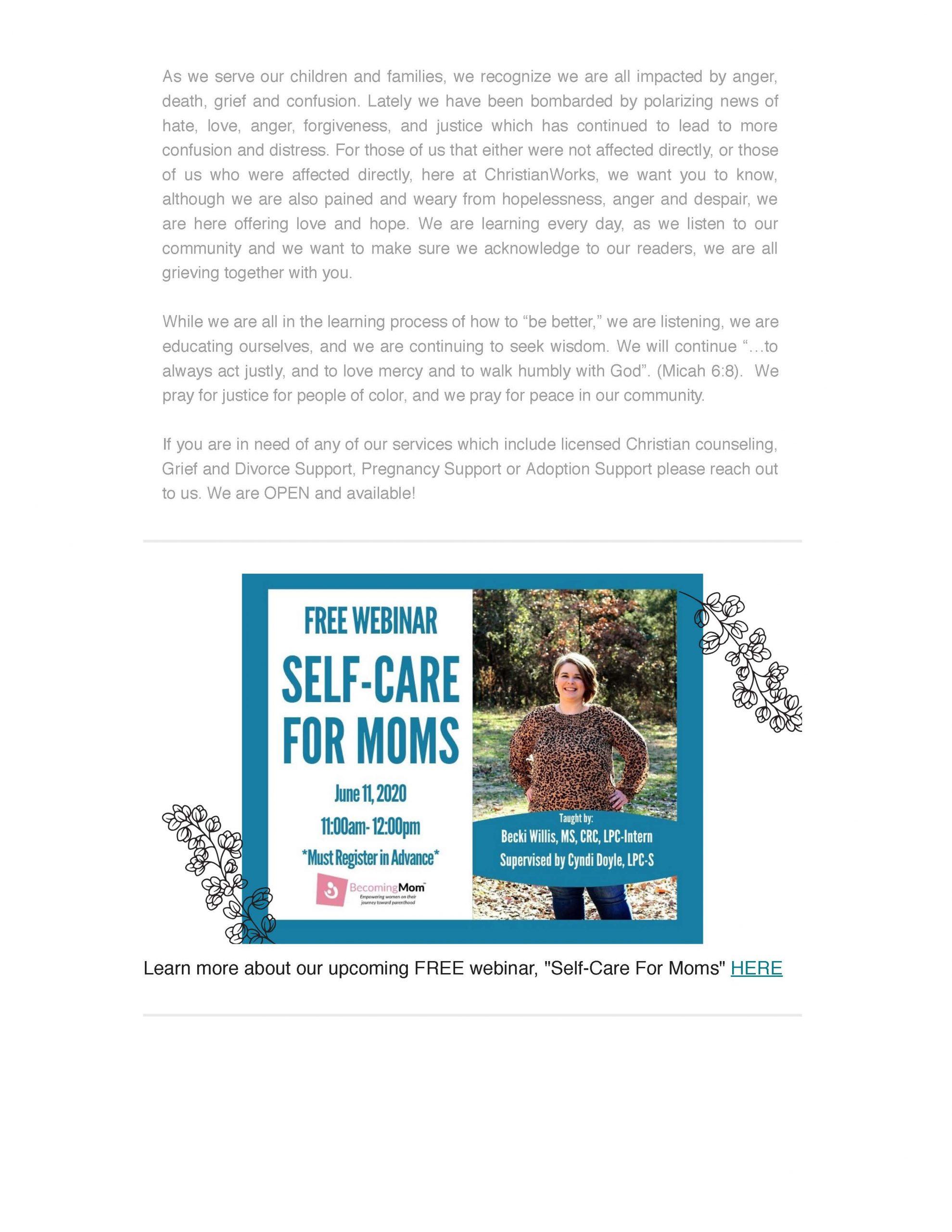 ChristianWorks Newsletter June 9, 2020 pt.2